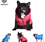 URBAN PAWS-Dog Coats/Jackets-S/M/L/XL/XXL-Winter-Red/Blue/Gray-Fleece Lining