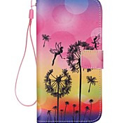 Dandelion Love Pattern high Quality Wallet Hand Rope Section Phone Case for iPhone 6/6S