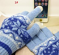 Warm Winter Gloves Knitted Touch Gloves Men Women Gloves Touch Screen Glove Snowflake Mittens for Mobile Phone Tablet