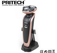 marque PRITECH rasoir 4d rasoir rechargeable électrique homme rasoir avec régleur de pop-up pour l'utilisation de barbier de famille