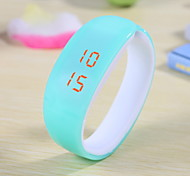Women's Candy Color Plastic LED Digital Bracelet Watch