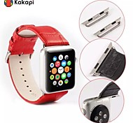 Kakapi Single Button With Connector Alligator Pattern Watchband Fashion Pu for Apple Watch38/42mm Assorted Colors