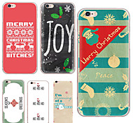 MAYCARI® Happy Christmas Transparent TPU Back Case for iPhone 6/iphone 6S(Assorted Colors)