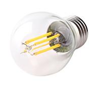 g45 e27 4w 400lm 360 grados luz caliente / frío color blanco Edison filamento llevó la lámpara de filamento (AC220V)