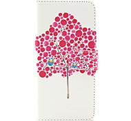 Teste padrão da árvore coruja estojo de couro pu com pressão magnética e slot para cartão para iphone 6 6s / iphone