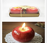 2pcs Christmas Red Apple Shape Fruit Scented Candle Home Decoration Greet Gift