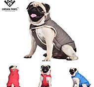 Perros Abrigos / Chaleco Rojo / Azul / Gris Ropa para Perro Invierno / Primavera/Otoño Un Color Mantiene abrigado / Paravientos: