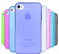 tpu staubdicht weiche Tasche für iPhone 4 / 4S (zufällige Farben)