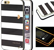 2-in-1 Black And White Case Pattern TPU Back Cover with PC Bumper Shockproof Soft Case for iPhone 6/6S