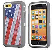 British Shockproof Case W/ Build-in Screen Protector for iPhone 5C Plastic + TPU Cover With