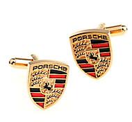 Jewelry Brass Material, Peltate Car Flag Cufflinks