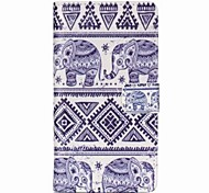 Elephant Painted PU Phone Case for Sony Xperia Z5