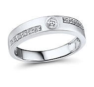 Men's Classic Sterling Silver set with Cubic Zirconia Couple Ring