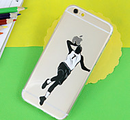 modelo del baloncesto TPU soft phone transparente para el iphone 5 / 5s