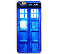 Police Call Box Pattern Transparent PC Back Cover for iPhone 6