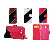 Twill Luxury Flip Cover Pouch Hybrid Leather Wallet Case For Samsung Galaxy E5/E7/J1