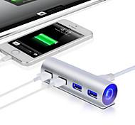 Premium Bus-powered 4 Ports Aluminum USB 3.0 Hub for iMac MacBook Pro Air MAC Mini, or any PC Laptop