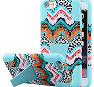 Silicone Gel Rubber Case With PC Stand cover Skin for iPhone 6 Plus(Assorted Colors)