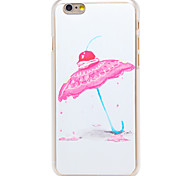 Cupcake Umbrella Pattern Transparent PC Back Cover for iPhone 6