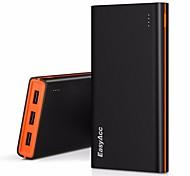 banca portatile di potere pacco batterie esterno easyacc seconda generazione 15000mAh con 3 porte USB