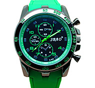 Men  Fashion Quartz Silicone Wrist Watch