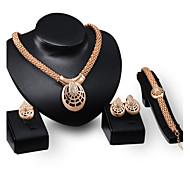 Women 2015 hot Necklace Earrings Gold Plated Jewelry Sets African Costume Necklace Set Accessories