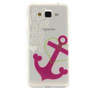 ancres de motif de rose TPU cas de téléphone pour Samsung Galaxy J2 / G530