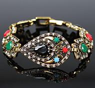 Retro Diamond Gemstone Charm Bracelets for Women
