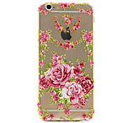 Chinese Rose Pattern TPU Phone Case For iPhone 6 /6S