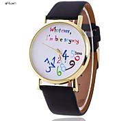 Women's Fashion Leather Band Quartz Anolog Wrist Watch(Assorted Colors)