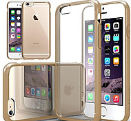 VORMOR®Luxurious Cushion Clear Back Cover with Silicone Bumper for iPhone 6/6S
