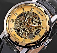 Men's Watch Mechanical Hollow Engraving Cool Watch Unique Watch Skeleton Watch