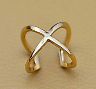 Women's Hollow X Shape Crossover Open Ring
