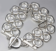 Fashion Exaggerated Luxury 925 Silver Party Chain & Link Bracelets For Woman&Lady