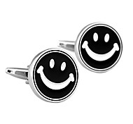 Jewelry Design Of Brass Material, Smiling Face Men Cufflinks