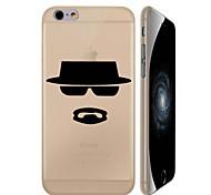 padrão de chapéu preto caixa do telefone material de pc para o iphone 6 plus / 6s mais (cores sortidas)