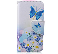 Butterfly Pattern PU Leather Material Flip Card Phone Case for iPhone 5/5S