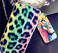 Leopard Color Lion Color Print Blue Light Reflective Blu-ray Soft TPU Case Cover for iphone 6s Plus/iphone 6 Plus