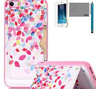 lexy® pontos coloridos padrão TPU macio de volta caso com protetor de tela e caneta para iPhone 5 / 5s