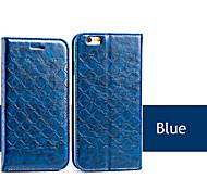 Grid Slim PU Flip Leather Case with Stand for iPhone 5/5S(Assored Colors)