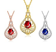 Xu™ Women's Hollow Out Bottles Diamonds Necklace