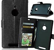 PU cuir carte portefeuille titulaire de luxe reposer le couvercle rabattable avec étui de cadre photo pour Nokia Lumia 830 (couleurs