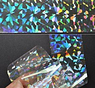 4PCS Laser Foil Transparency Colorful Nail Decorations Starry Nail Stickers