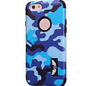 motifs de camouflage de haute qualité logiciel enfichable sur pc + silicone hybride combo armure Housse pour iPhone 6 plus (couleurs