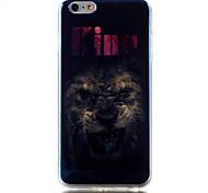 caso de volta suave totem padrão leão TPU blu-ray capa para o iPhone 6 6s plus / iphone mais