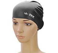 MYSTYLE SC-101 Elasticity Silicone Swim Cap - Black
