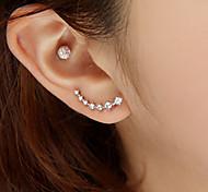 European Style Fashion Star Earrings Inlaid Rhinestone Earrings