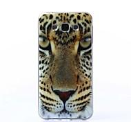 motif de la peinture de léopard TPU Retour cas pour Samsung Galaxy J7
