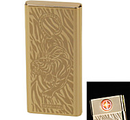 """Personality Originality Charging Lighter Ultra Thin Windproof Electronic Cigarette Lighter Metal Silent """"Tiger"""""""