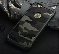 esercito camuffamento modello copertura posteriore dura custodia protettiva armatura in plastica per il iphone 6 6s / iphone